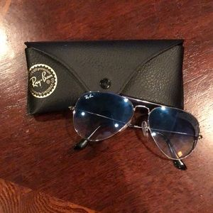 Aviator Raybans light blue 55mm
